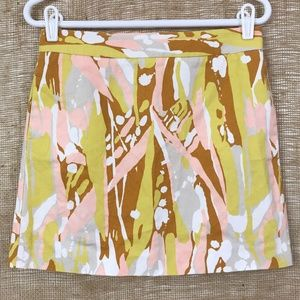 J. Crew Limoncello Cotton A-Line Mini Skirt Size 2